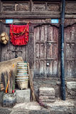 Wooden house in Kathmandu Royalty Free Stock Photos