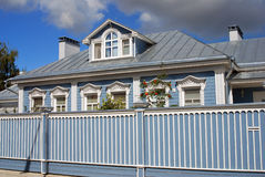 A wooden house. Kremlin in Kolomna, Russia. Royalty Free Stock Images