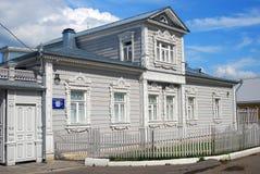 A wooden house. Kremlin in Kolomna, Russia. Stock Image