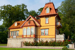 Wooden house. Kuressaare, Estonia Royalty Free Stock Photos