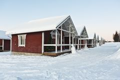 Wooden house in Lapland Stock Photography