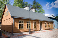 Wooden house in Lodz Stock Photos