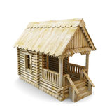 Wooden house from logs Royalty Free Stock Image