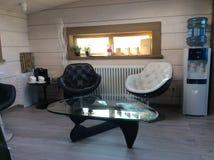 Wooden house modern interior Stock Photo