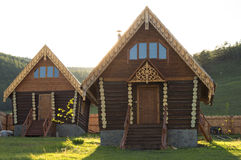 Wooden house. Royalty Free Stock Images