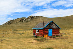 A wooden house in Mongolia Stock Photos