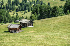 Wooden house in mountain landscape of alto adige, italy. Wooden house in mountain landscape of alto adige, northern italy stock images