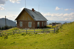 Wooden house isolated Stock Image