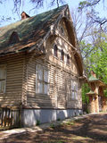 Wooden house without the nails Stock Photo