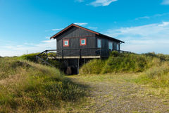 Wooden house in the nature Royalty Free Stock Photos