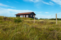 Wooden house in the nature Royalty Free Stock Photography