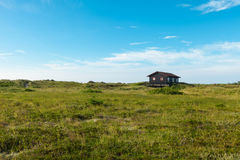 Wooden house in the nature Stock Photo