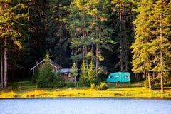 Free Wooden House Near Lake Stock Image - 44951451
