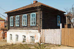 Wooden house of nineteenth century Stock Photos