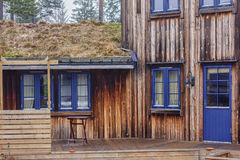 Wooden House in Norway Stock Photo
