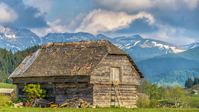 Wooden house. Old abandoned wooden house in the foothills Stock Photo