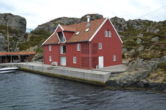Wooden house. Old red wooden house in Norway Stock Photography