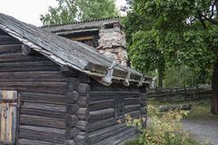 Wooden house. Old wooden house in Skansen - historical park in Stockholm Royalty Free Stock Photo