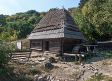 Wooden house  in open-air museum Pirogovo Royalty Free Stock Images