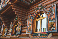 Wooden house. Ornament in the old style Stock Image