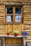 Wooden house in Patagonia. A detail from a wooden house in Patagonia Stock Photos