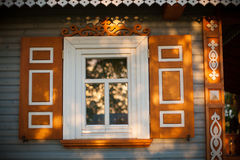 Wooden house, Poland Stock Photography