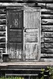 Wooden house, porch, stoop. Dying Russian village Stock Image