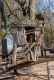 Stilt - Wooden house on props. Wooden house on props. Stilt Stock Photos