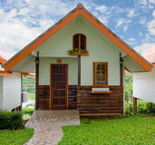 wooden house in resort Royalty Free Stock Photos