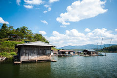 Wooden house on the river at Thailand. Wooden house on the river at Nan, Thailand Stock Image