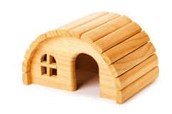 Wooden house for rodents Royalty Free Stock Image