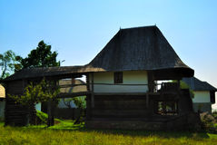 Wooden house from Romania. Beautiful nature spot with traditional old wooden house Royalty Free Stock Photography