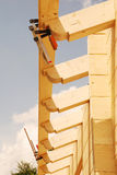 Wooden House Roof Construction Stock Images