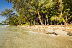 Wooden house on the sandy beach. Koh Chang Royalty Free Stock Photography