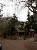 Wooden house. Santiago Chile Royalty Free Stock Photography