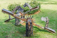 Wooden house seesaw Stock Photography