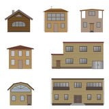 Wooden house set Royalty Free Stock Photos