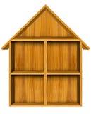 Wooden house shelf Stock Photos