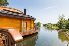 Wooden house Stock Images