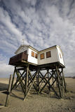 Wooden house on stilts Royalty Free Stock Photography