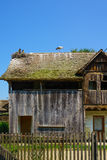 Wooden House, with Storks, Croatia Royalty Free Stock Photography