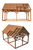 wooden house structure stock illustration