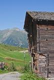 Wooden house in Switzerland Stock Photos