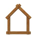Wooden house symbol Stock Image