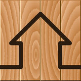 Wooden house symbol Stock Photography