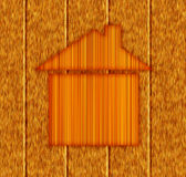 Wooden house symbol. Icon of wood house concept Stock Images