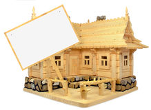 Wooden house and table Stock Photo