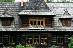 Wooden house in Tatra mountains Royalty Free Stock Photography