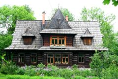 Wooden house in Tatra mountains Royalty Free Stock Photos