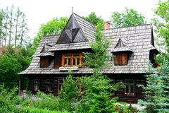 Wooden house in Tatra mountains Stock Photos